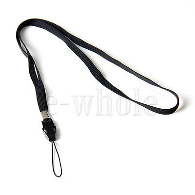 1pc Black Cotton Neck Strap Lanyard for  Iphone Samsung Badge Carry Cameras