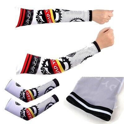 2015 Men's Cycling Bicycle Arm Sleeve Cover Warmers Protector UV Sun Protection