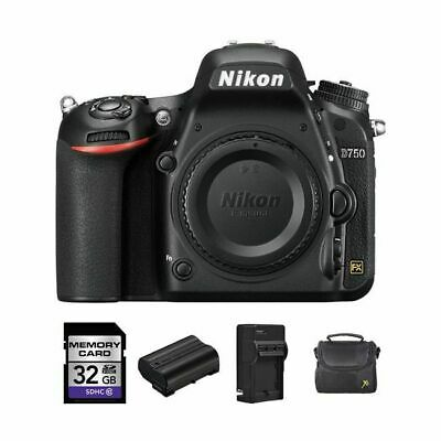 Nikon D750 DSLR Camera (Body Only) + 2 Batteries, 32GB & More