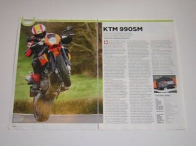 KTM 990 Supermoto Road Test article from 2008 - Original