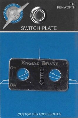 Switch plate engine brake arrows stainless steel etched for Kenworth toggle