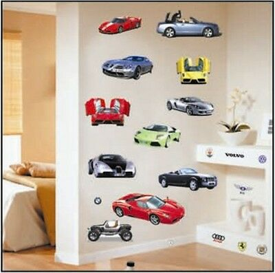 Various Sports Car Wall Sticker Decal Home Decor Vinyl Removeable Kids Room
