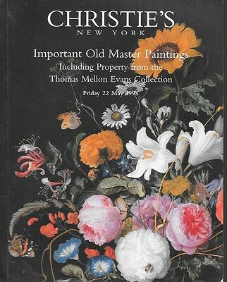 Christie's Sale 8880 Important Old Master Paintings Auction Catalog 1998