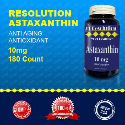 Astaxanthin Powerful Antioxidant Support, Anti Aging, 10mg 180 Caps Quality USA
