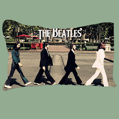 """NEW The Beatles Disco Abbey Road twin side printed 16""""x24"""" pillow case"""