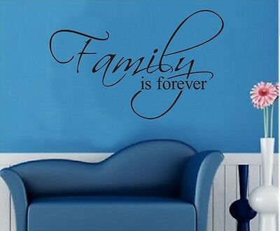 Family is Forever Home Decoration Removable Vinyl Wall Art Decal Quote Sticker