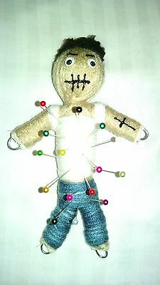 Authentic Ex Boyfriend Voodoo Doll real 7 pins guide new orleans Karma string