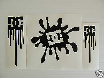 TRIPLE SET OF DC Stickers/Decals- Snowboarding/Watersports/ Skateboarding/Bmx