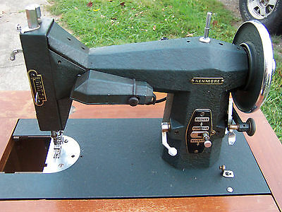 Vintage 1950's SEARS KENMORE Rotory Sewing Machine Model #117-552 w/Cabinet