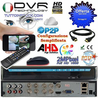 Dvr 8 Canali H264 AHD NVR Hybrid Top 1080P 2 Mpixel Cloud X iPhone Android