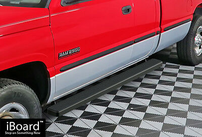 "4"" Black iBoard Running Boards Fit 94-01 Dodge Ram 1500/2500/3500 Club Cab"