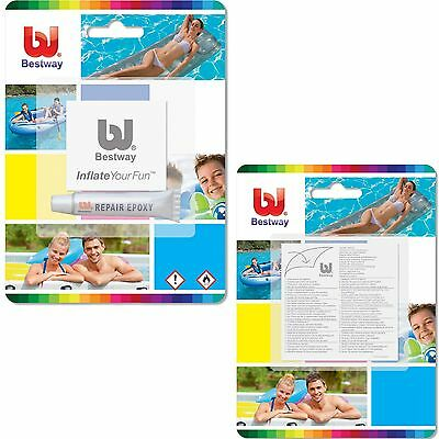 Bestway Heavy Duty Pvc Repair Kit Patches Inflatable Swimming Pool Lilo Airbed