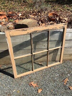 Vintage antique old wood window sashes 6 pane wavy glass Pinterest picture frame