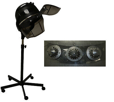 New Professional Hooded Hair Dryer on Wheels Stand Barber Beauty Salon Equipment