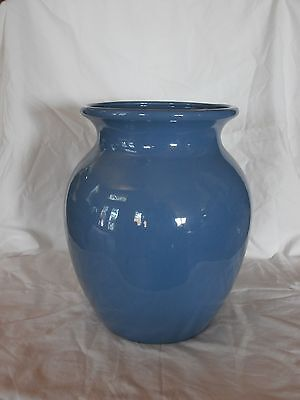 Large Blue Haeger floor or table vase pottery pot #8501, Made in USA