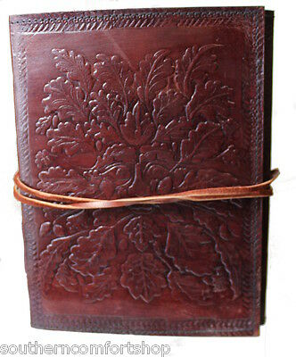 Genuine Leather 6 x 8 Inch 120 Linen Page Dream Journal with Greenman