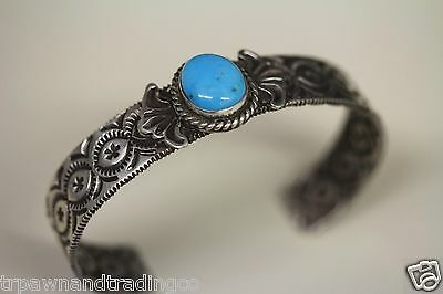 New 4 Sided Sterling Silver Bracelet w/Sleeping Beauty Turquoise/Sunshine Reeves
