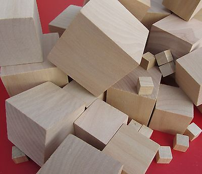 Wooden Craft Supplies Blocks Wood Cubes 10mm - 60mm Hardwood 75mm Pine Minecraft