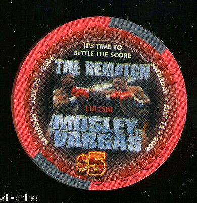 "$5 MGM Grand ""The Rematch"" MOSLEY vs VARGAS July 15th 2006 Las Vegas Casino Chip"