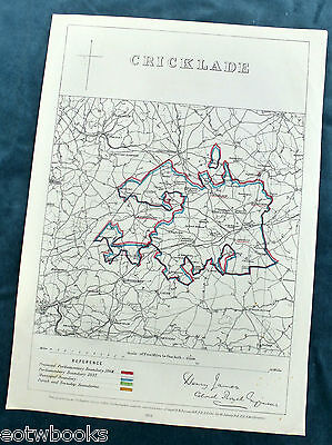 CRICKLADE -  Antique Map / Plan, Boundary Commissioners Report - 1868 .