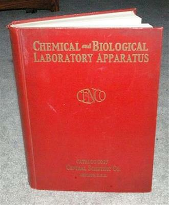 1927 Cenco Chemical & Biological Laboratory Science Instruments Catalog 800 pgs