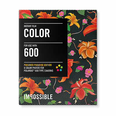 Impossible Project Color Film Poisoned Paradise Hibiscus Polaroid 600 Camera