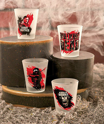The Lakeside Collection The Walking Dead® Set of 4 Shot Glasses