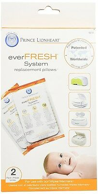Prince Lionheart Ever-Fresh Replacement Pillows for Ultimate Wipes Warmer, 2 ...