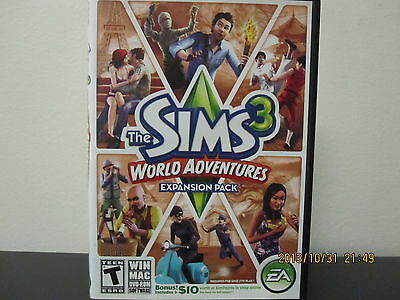 The Sims 3: World Adventures (PC, 2009) *Tested/Complete/Like New/With CD Key