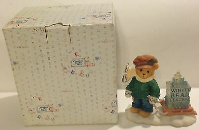 1997 Cherished Teddies James Going My Way For The Holidays Figurine 269786 China