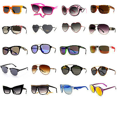 24 Pair Women Fashion Desinger Retro Vintage UV 100% WHOLESALE LOTS SUNGLASSES