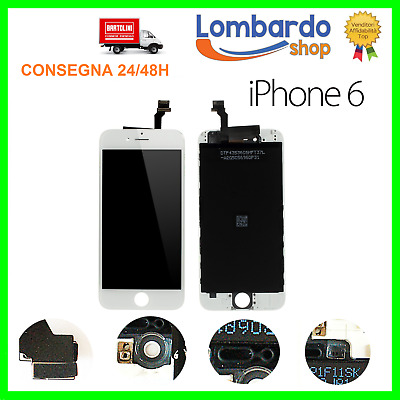 Display Schermo Iphone 6 Bianco Per Apple Touch Screen Lcd Retina Frame Vetro 6G