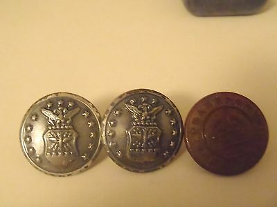 vintage uniform buttons Air Force, Transport Canada, Waterbury, Scully