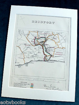 BRIDPORT - Antique Map / Plan, in mount,  Boundary Commissioners Report, 1868