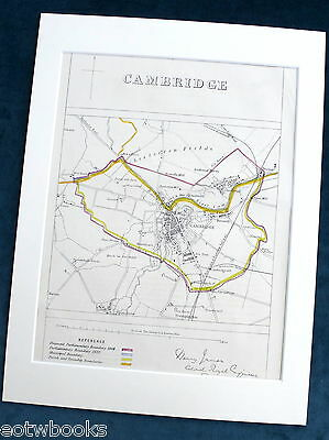 CAMBRIDGE - Antique Map / Plan, in mount,  Boundary Commissioners Report, 1868