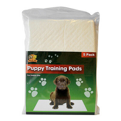5 PUPPY DOG TRAINING PADS SUPER ABSORBENT TRAINER PADS PET ACCESSORIE 40 x 50 CM