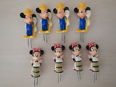 DISNEY MICKEY AND MINNIE MOUSE FARMERS CORN ON THE COB HOLDERS