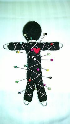 Authentic faceless Voodoo doll real 7 pins guide karma new orleans hoodoo