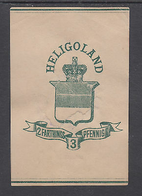 Heligoland H&G E1 used 1878 2f/3pf Wrapper