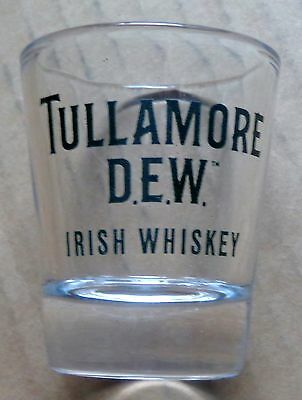 Tullamore Dew Irish Whiskey Shot Glass - Dark Green Logo - Glass - Brand New