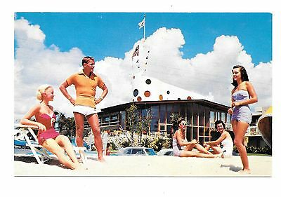 Vintage Beach Scene The Jolly Roger A Gill Hotel, Ft Lauderdale, Florida