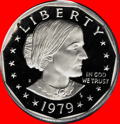1979 S Type 2 Susan B Anthony Dollar Deep Cameo Gem Proof