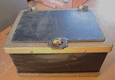 2 ANTIQUE STRONGBOX, STRONG BOX, SAFE , RAILROAD, PAYMASTER # 0246