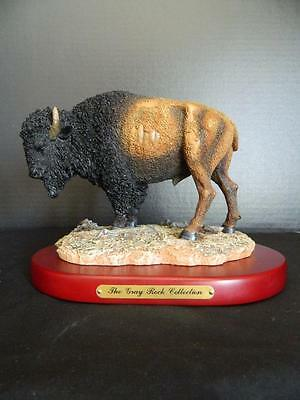 Bison Buffalo Figurine Sculpture Amy & Addy Gray Rock Collection Western Lodge