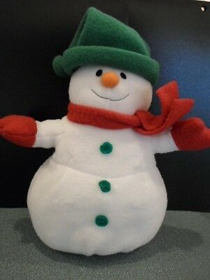 ADORABLE HALLMARK SNOWMAN PLUSH TOY DECORATION FOR HOLIDAY/CHRISTMAS