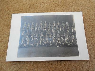 Vintage 1900s RPPC SCotland Stillwater Ayshire Boy Scouts Troop Group Photo