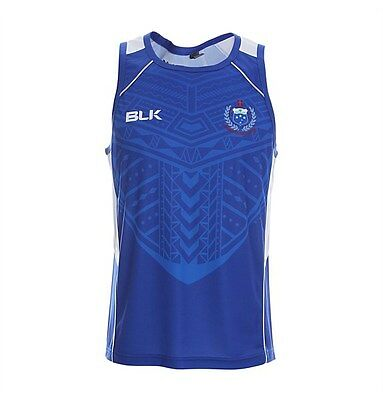 "Samoa Rugby Union Players BLK Training Singlet Sizes S-7XL! ""Manu Samoa""!"