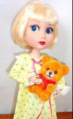 "14"" PATIENCE Doll Yellow Nightgown Slippers +Bear Wilde Tonner Bedtime Dreams OZ"