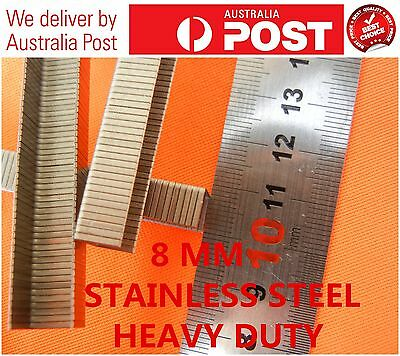 Heavy Duty1000 PCS 304 Stainless Steel  8 MM STAPLE FOR CEILLING TILES ETC