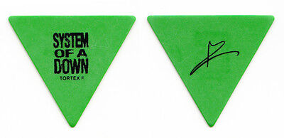 System of a Down Daron Malakian Signature Green Guitar Pick - 2011 Tour SOAD